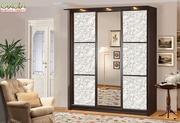 3-х дверный шкаф купе Элит-лак (Скай)
